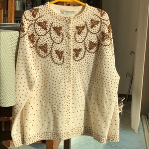 Very vintage beaded sweater